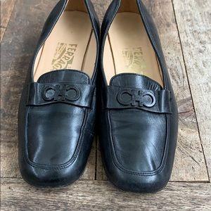 Salvatore Ferragamo loafers size 5.